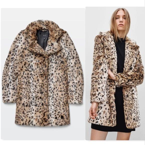 Welp Aritzia Jackets & Coats   Talula Beckledge Faux Leopard Fur Coat S RB-84